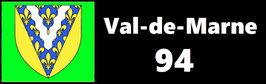 ( 94 )   Un Porte certificat simple pour assurance ou CT. Département Val de Marne  (fond noir ou transparent)