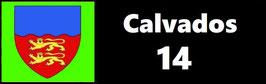 ( 14 )   Un Porte certificat pour assurance ou CT. Département Calvados (fond noir ou transparent)