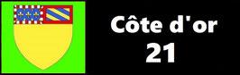 ( 21 )   Un Porte certificat pour assurance ou CT. Département Côte d'or (fond noir ou transparent)
