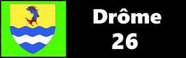 ( 26 )   Un Porte certificat pour assurance ou CT. Département Drôme  (fond noir ou transparent)