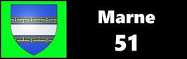 ( 51 )   Un Porte certificat simple pour assurance ou CT. Département Marne  (fond noir ou transparent)