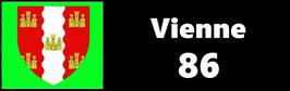 ( 86 )   Un Porte certificat simple pour assurance ou CT. Département Vienne  (fond noir ou transparent)