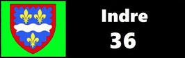 ( 36 )   Un Porte certificat simple pour assurance ou CT. Département Indre  (fond noir ou transparent)