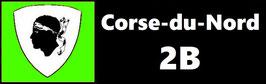 ( 2B )   Un Porte certificat simple pour assurance ou CT. Département Corse du Nord (fond noir ou transparent)