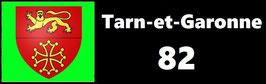 ( 82 )   Un Porte certificat simple pour assurance ou CT. Département Tarn et Garonne  (fond noir ou transparent)