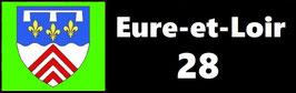 ( 28 )   Un Porte certificat pour assurance ou CT. Département Eure et Loir  (fond noir ou transparent)