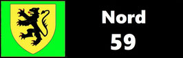 ( 59 )   Un Porte certificat simple pour assurance ou CT. Département Nord  (fond noir ou transparent)