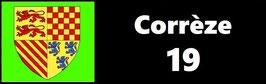 ( 19 )   Un Porte certificat pour assurance ou CT. Département Corrèze (fond noir ou transparent)