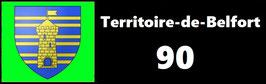 ( 90 )   Un Porte certificat simple pour assurance ou CT. Département Territoire de Belfort  (fond noir ou transparent)