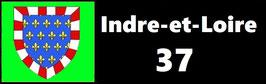 ( 37 )   Un Porte certificat simple pour assurance ou CT. Département Indre et Loire  (fond noir ou transparent)