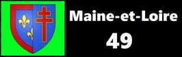 ( 49 )   Un Porte certificat simple pour assurance ou CT. Département Maine et Loire  (fond noir ou transparent)