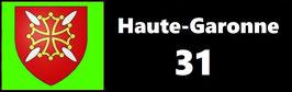 ( 31 )   Un Porte certificat simple pour assurance ou CT. Département Haute Garonne  (fond noir ou transparent)