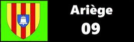 ( 09 )   Un Porte certificat pour assurance ou CT. Département Ariège (fond noir ou transparent)