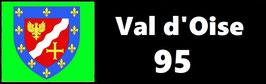 ( 95 )   Un Porte certificat simple pour assurance ou CT. Département Val d'Oise  (fond noir ou transparent)