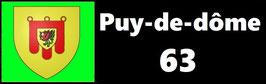 ( 63 )   Un Porte certificat simple pour assurance ou CT. Département Puy de Dôme  (fond noir ou transparent)