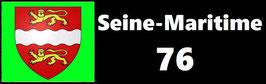 ( 76 )   Un Porte certificat simple pour assurance ou CT. Département Seine Maritime  (fond noir ou transparent)