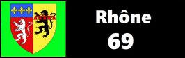 ( 69 )   Un Porte certificat simple pour assurance ou CT. Département Rhône  (fond noir ou transparent)