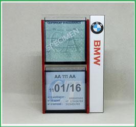 BMW.   Un Porte certificats double pour assurance et CT avec logo BMW  (fond noir ou transparent)