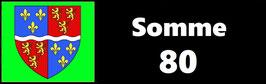 ( 80 )   Un Porte certificat simple pour assurance ou CT. Département Somme  (fond noir ou transparent)