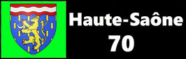 ( 70 )   Un Porte certificat simple pour assurance ou CT. Département Haute Saône  (fond noir ou transparent)