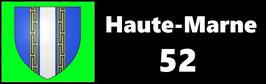 ( 52 )   Un Porte certificat simple pour assurance ou CT. Département Haute Marne  (fond noir ou transparent)