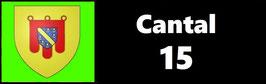 ( 15 )   Un Porte certificat pour assurance ou CT. Département Cantal (fond noir ou transparent)