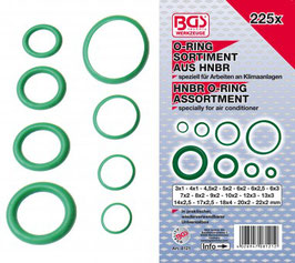 O-Ring-Sortiment HNBR  Ø 3 - 22 mm 225-tlg. 8121