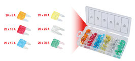 Sortiment Mini-Sicherungen, 5-30A, 120-tlg. 970.0280