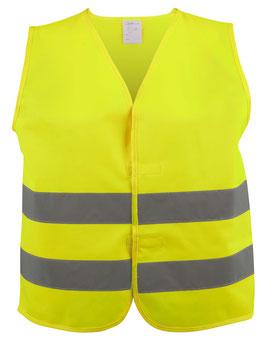 Sicherheitsweste Größe XXL für Erwachsene Gelb EN 20471/2 44042
