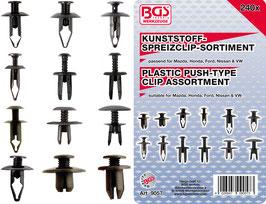 Kunststoffspreizclip-Sortiment für Mazda, Honda, Ford, Nissan, VW 240-tlg. 9057