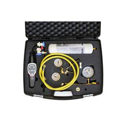 Lecksuche Set Formiergas für KFZ Klimaanlage R134A R1234yf mit Profi Lecksuchgerät