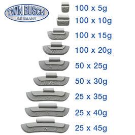 Set Auswucht-/Schlaggewichte 5-45 g Zink (ZN) - TWF-SG