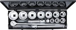 """Steckschlüssel-Satz Antrieb 25 mm (1"""") SW 36 - 80 mm  15-tlg. 15111"""
