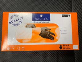 UNEX Nitril & Latex Handschuhe Gr. 9/L in Schwarz