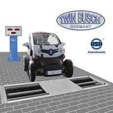 Rollen-Bremsenprüfstand mit Anzeigeschrank Digital-Display TW B-BP304WD