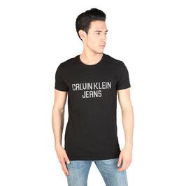 CK Calvin Klein Jeans T-Shirt Uomo Manica Corta Girocollo Bianca o Nera |CMP32C|