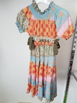 TWIN SET Simona Barbieri Vestito Stampa a Fantasia Multicolore |91 S 2696|