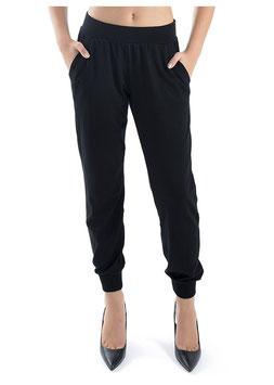 TWIN SET Lingerie Pantaloni Neri con Tasche e Polsino Elastico alla Caviglia |TS-IA4XEE|