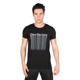 CK Calvin Klein Jeans T-Shirt Uomo Manica Corta Girocollo BIANCA o NERA o GRIGIA |CMP43C|