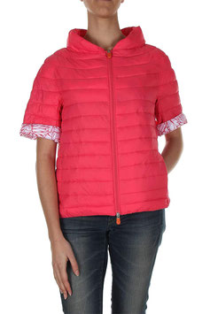 SAVE THE DUCK Piumino Donna Rosa Fragola Ultra Leggero a Maniche corte |SV-D3520W|