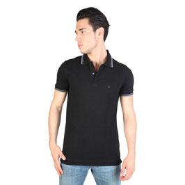 CK Calvin Klein Jeans T-Shirt Maglia Polo Uomo Maniche Corte Nera con Logo |KMP25A|