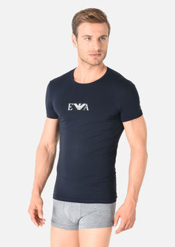 EMPORIO ARMANI T-Shirt Maglietta Uomo a Manica Corta Scollo Rotondo in Cotone Stretch in Elegante Scatola