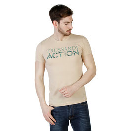 TRUSSARDI Action T-Shirt Girocollo Mod. 2AT02 a Manica Corta con Logo Grande Frontale