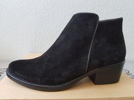 SKA Stivaletti Chelsea Boots in Pelle Nera Scamosciata con Cerniera Interna  172 