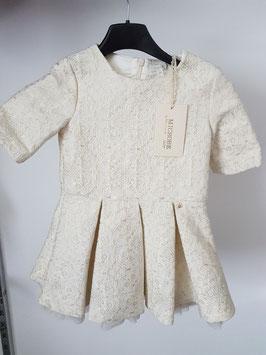MICROBE Couture By MISS GRANT Abito da Cerimonia Bambina Avorio con Ricami |25 M 4415 6343|