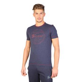 Guru T-Shirt Mod. JEGTS1573 a Manica Corta Blu Navy o Grigio Scuro con Logo Guru Davanti