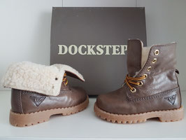 DOCKSTEPS Scarponcino Stringato Bambino Mod. ASPEN 062 Leather Mud |DSP101312|