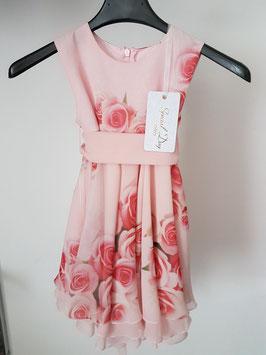 SPECIAL DAY Vestito da Cerimonia Bambina Rosa con Stampa Fantasia di Rose |16031|