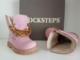 DOCKSTEPS Scarponcino Stringato Bambino Mod. ASPEN 062 Nabuk Pink |DSP101305|