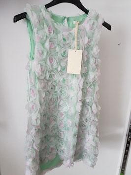 MISS GRANT Couture Abito da Cerimonia Bambina Verde con Boccioli di Rose in Rilievo |05 G 2421 6269|